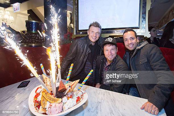 Nick Carter Brian Littrell And Howie D Attend The Backstreet Boys At Sugar Factory American