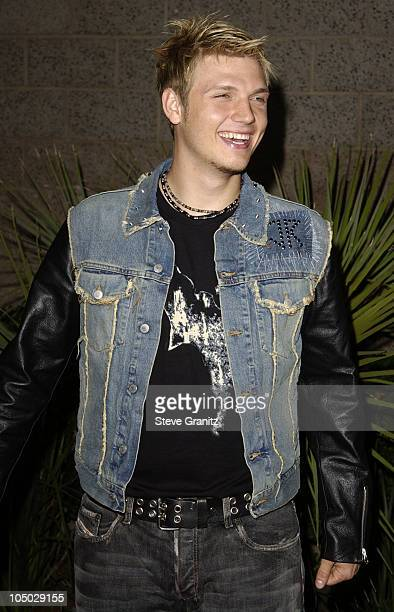 Nick Carter during 2002 Billboard Music Awards Arrivals at MGM Grand Arena in Las Vegas Nevada United States