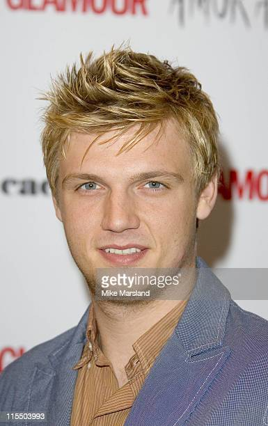 Nick Carter during 2005 Glamour Women of the Year Awards Inside Arrivals at Berkeley Square in London Great Britain