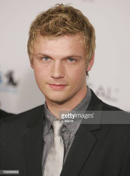 Nick Carter during Clive Davis 2005 PreGRAMMY Awards Party Arrivals at The Beverly Hills Hotel in Beverly Hills California United States