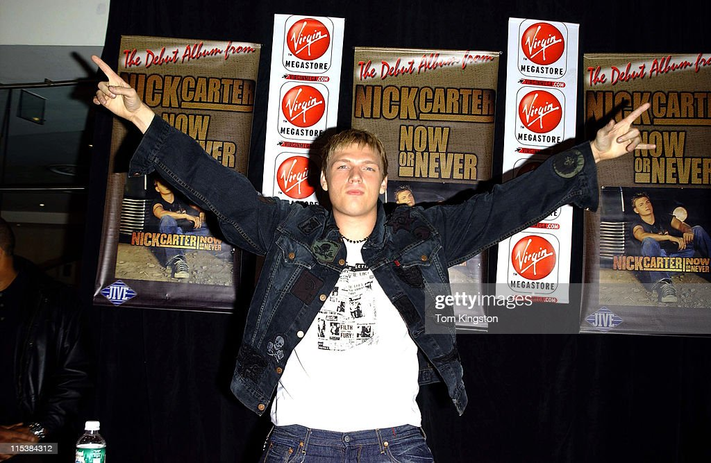 "Nick Carter Promoting his new CD ""Now Or Never!"" at the Virgin Records store"