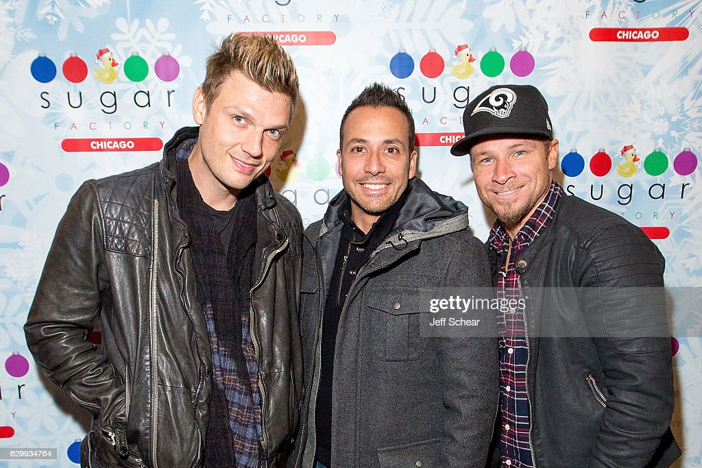 Backstreet Boys at Sugar Factory American Brassiere in Chicago River North : News Photo