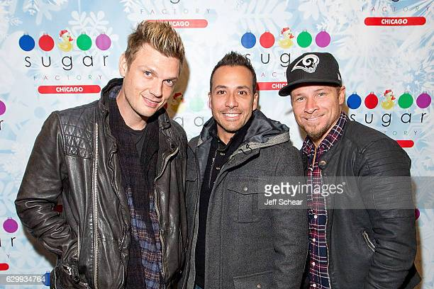Nick Carter Howie D and Brian Littrell attend the Backstreet Boys at the Sugar Factory American Brassiere in Chicago River North on December 14 2016...