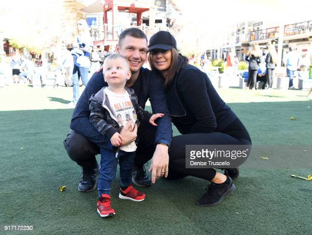 Nick Carter Lauren Kitt and their son Odin Reign Carter attend Candlelighters Childhood Cancer Foundation Of Nevada's 40th anniversary at Container...