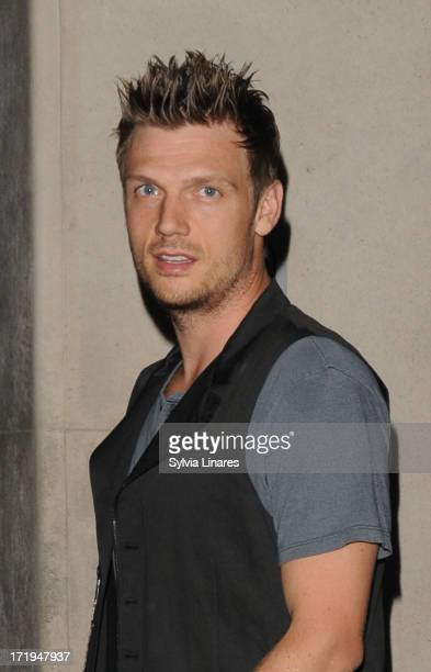 Nick Carter leaving May Fair Hotel on June 29 2013 in London England