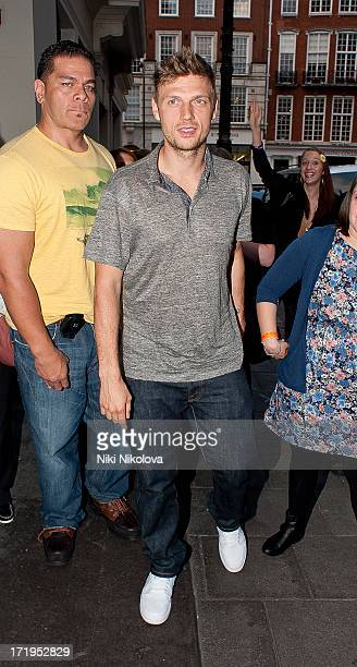 Nick Carter leaving the Mayfair hotel on June 29 2013 in London England