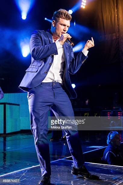 Nick Carter of Back Street Boys is performing at Shoreline Amphitheatre on May 25 2014 in Mountain View California