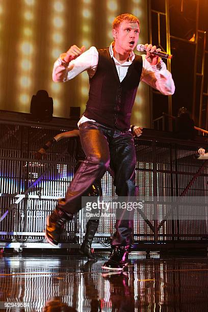 Nick Carter of Backstreet Boys performs at Echo Arena on November 9 2009 in Liverpool England