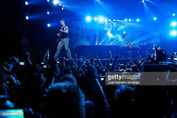 Nick Carter of Backstreet Boys performs at Palacio de Vistalegre on February 19 2014 in Madrid Spain