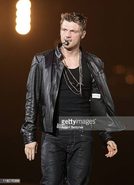 Nick Carter of Backstreet Boys performs with NKOTBSB at Target Center in Minneapolis Minnesota on July 15 2011