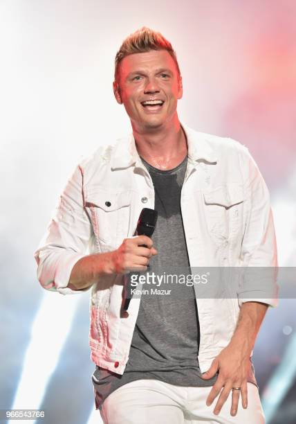 Nick Carter of music group Backstreet Boys performs onstage during the 2018 iHeartRadio Wango Tango by ATT at Banc of California Stadium on June 2...