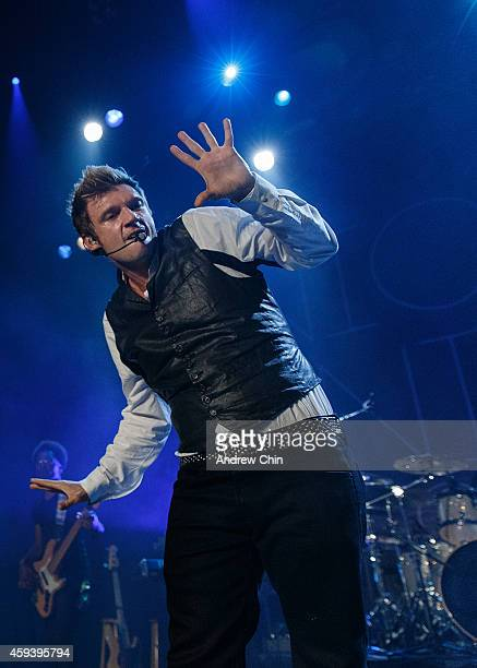 Nick Carter of Nick Knight performs on stage at Vogue Theatre on November 21 2014 in Vancouver Canada