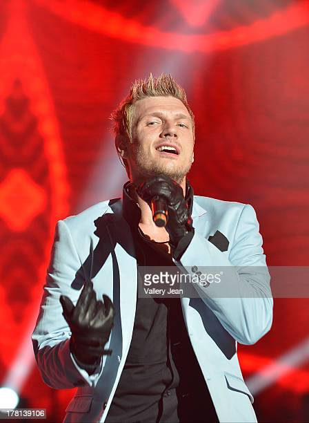 Nick Carter of the Backsteet Boys performs at Cruzan Amphitheatre on August 25 2013 in West Palm Beach Florida