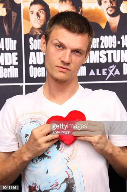 Nick Carter of the Backstreet Boys attends a autograph session on September 6, 2009 in Berlin, Germany.