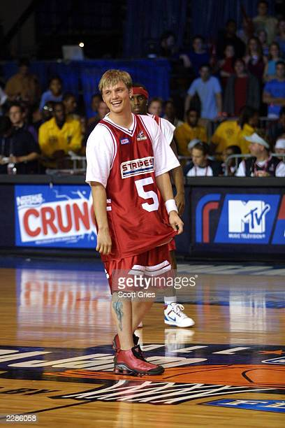 Nick Carter of The Backstreet Boys during MTV's Rock N Jock NBA All Star Jam at the Pennsylvania Convention Center in Philadelphia Pa 2/8/02 Photo by...
