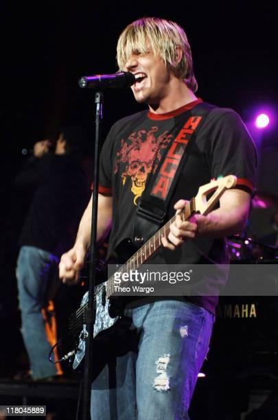 Nick Carter of The Backstreet Boys during Z100's Jingle Ball 2005 Show at Madison Square Garden in New York City New York United States