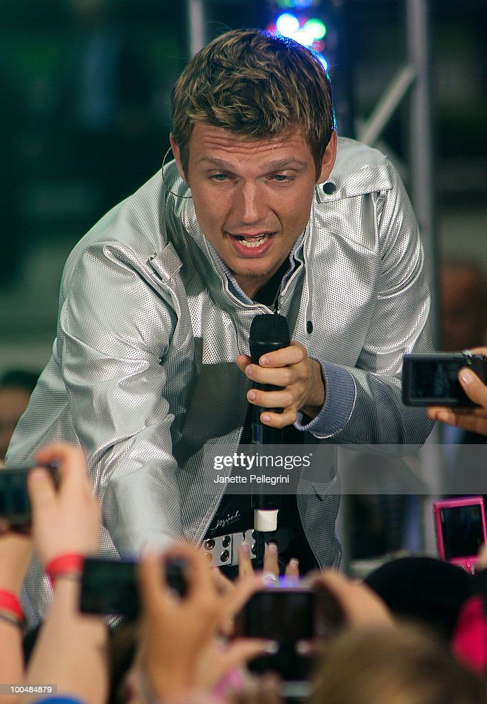 Nick Carter of the Backstreet Boys peforms on CBS' The Early Show Summer Concert Series at the CBS Early Show Studio Plaza on May 24, 2010 in New York City.