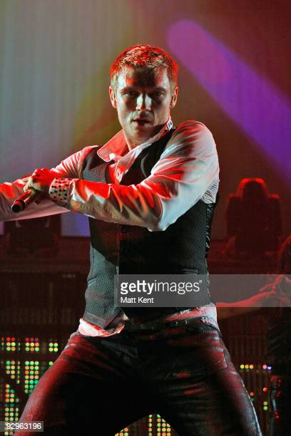 Nick Carter of the Backstreet Boys performs at 02 Arena on November 10 2009 in London England