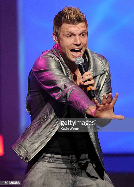 Nick Carter of The Backstreet Boys performs onstage during Glamorama 'Fashion in a New Light' benefiting AIDS Project Los Angeles presented by Macy's...