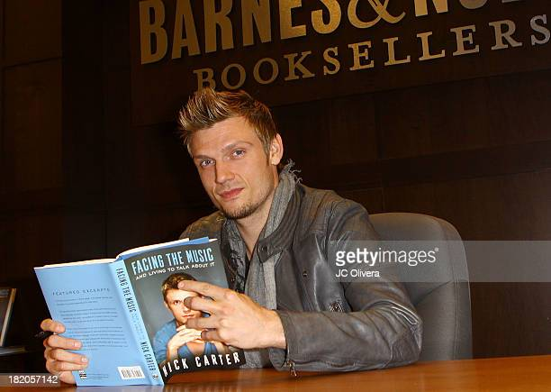 Nick Carter signs copies of his new memoir 'Facing The Music' at Barnes Noble bookstore at The Grove on September 27 2013 in Los Angeles California