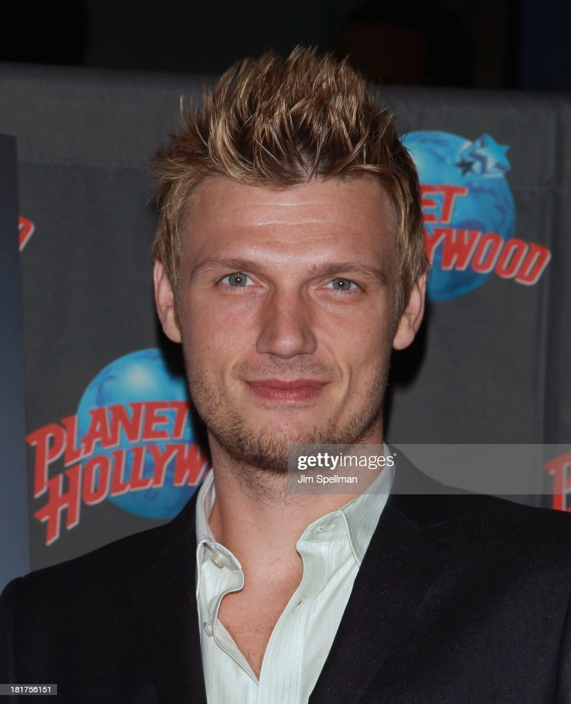 Nick Carter Visits Planet Hollywood Times Square
