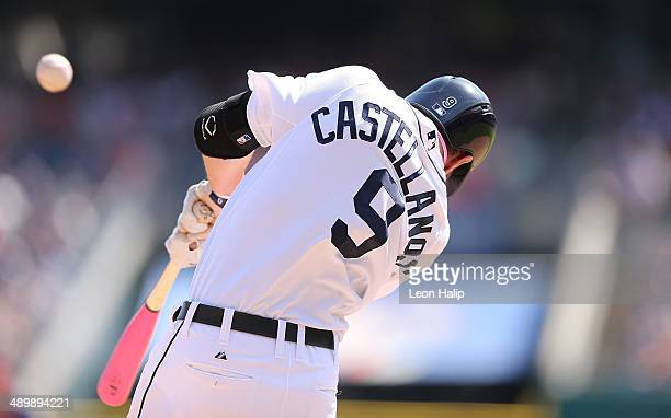 Nick Castellanos of the Detroit Tigers bats during the ninth inning of the game against the Minnesota Twins at Comerica Park on May 11 2014 in...