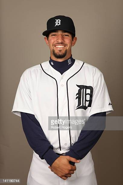Nick Castellanos of the Detroit Tigers poses during Photo Day on Tuesday February 28 2012 at Joker Marchant Stadium in Lakeland Florida