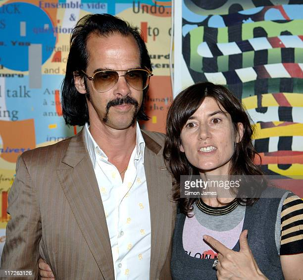 Nick Cave and Bella Freud during Portobello Film Festival – Fashion Show at Westbourne Studios in London Great Britain