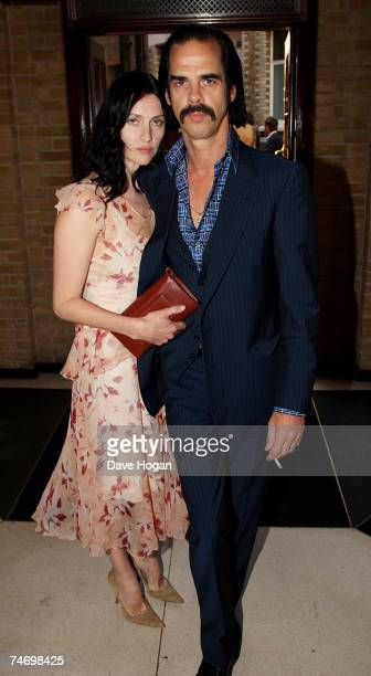 Nick Cave and his wife Susie Bick arrive at the Mojo Honours List Awards Ceremony at The Brewery on June 18 2007 in London England