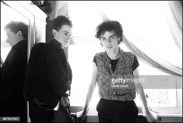 Nick Cave and Mick Harvey of the Birthday Party in a Bayswater squat London United Kingdom on 17 May 1981