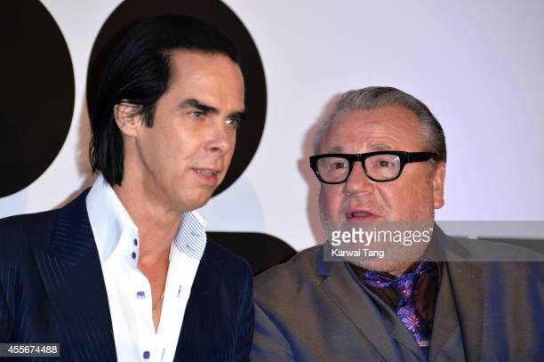 """Nick Cave and Ray Winstone attend the """"20,000 Days on Earth"""" screening at Barbican Centre on September 17, 2014 in London, England."""