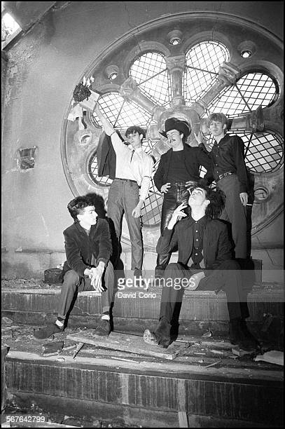 Nick Cave and the Birthday Party in disused church in Kilburn London United Kingdom on 22 October 1981