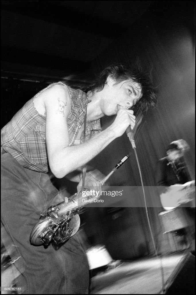 Nick Cave and The Birthday Party performing at The Venue, Victoria, London, UK on 26 November 1981.