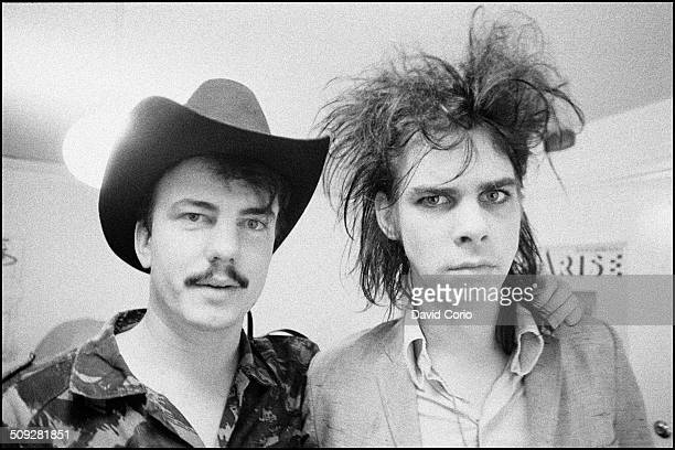 Nick Cave and Tracey Pew of the Birthday Party in Kilburn London 15 July 1982