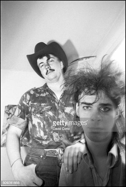 Nick Cave and Tracey Pew of the Birthday Party in Kilburn, London 15 July 1982.