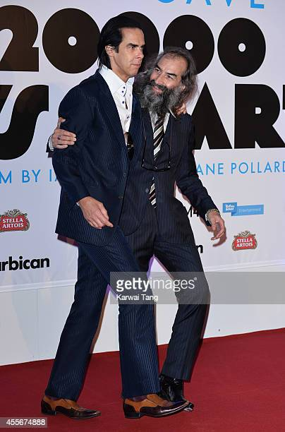 "Nick Cave and Warren Ellis attend the ""20,000 Days on Earth"" screening at Barbican Centre on September 17, 2014 in London, England."