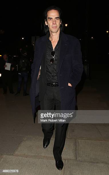 Nick Cave attending the Alexander McQueen Savage Beauty Fashion Gala at the VA on March 12 2015 in London England