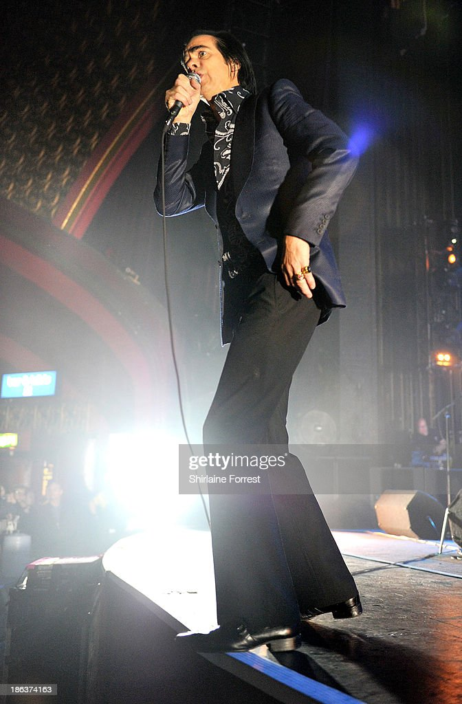 Nick Cave of Nick Cave and The Bad Seeds performs at Manchester Apollo on October 30, 2013 in Manchester, England.