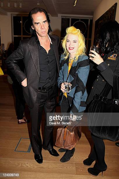 Nick Cave Pam Hogg and Susie Bick attend the debut screening of a short film collaboration between Bella Freud and director Martina Amati at Max...