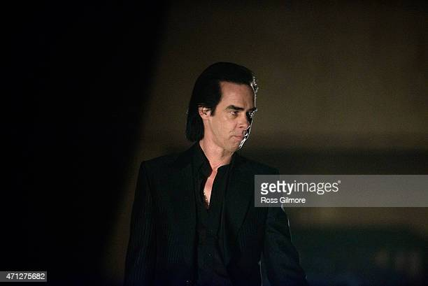 Nick Cave performs on stage at Glasgow Royal Concert Hall on April 26 2015 in Glasgow United Kingdom
