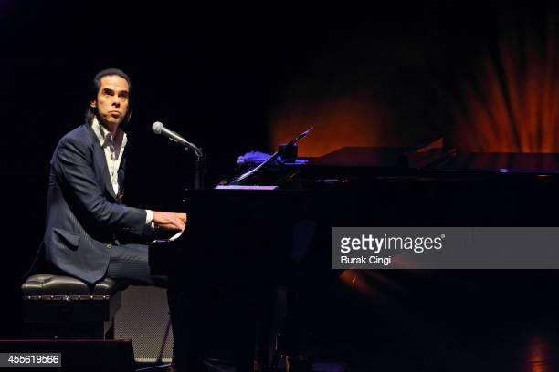 Nick Cave performs on stage at the gala preview of 20,000 Days on Earth at Barbican Centre on September 17, 2014 in London, United Kingdom.
