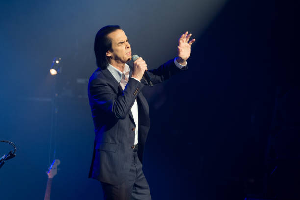 FRA: Nick Cave & Warren Ellis Perform At Salle Pleyel In Paris