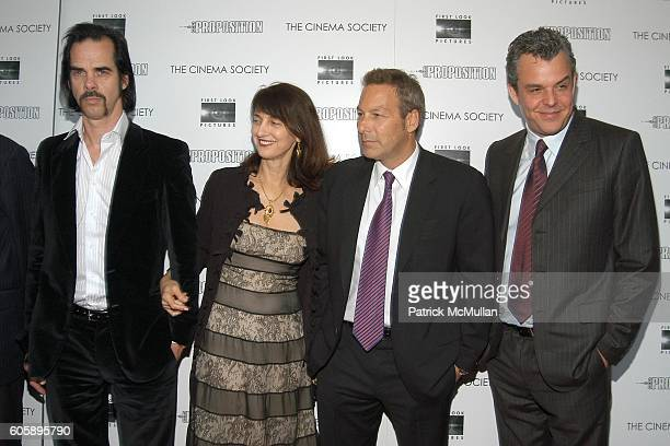 Nick Cave, Ruth Vitale, Henry Winterstern and Danny Huston attend THE CINEMA SOCIETY presents the NY Premiere of First Look Pictures' THE PROPOSITION...