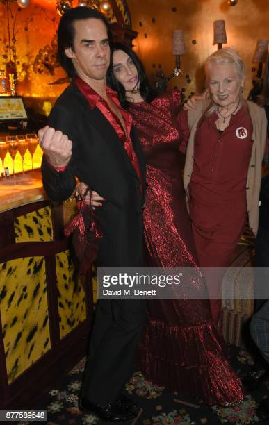Nick Cave Susie Cave and Vivienne Westwood attend the Nick Cave The Bad Seeds x The Vampires Wife x Matchesfashioncom party at Loulou's on November...