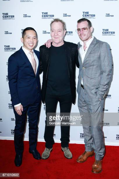 Nick Chan Oscar Dotter and Fred Schneider attend the The LGBT Community Center Dinner at Cipriani Wall Street on April 20 2017 in New York City