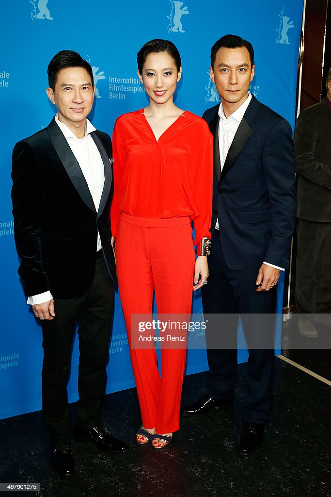 Nick Cheung, Christie Chen and Daniel Wu attend 'That Demon Within' (Mo Jing) premiere during 64th Berlinale International Film Festival at Zoo Palast on February 8, 2014 in Berlin, Germany.