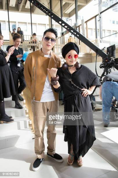 Nick Chou and Billie Wang attend the Michael Kors Collection Fall 2018 Runway Show at the Vivian Beaumont Theatre on February 14 2018 in New York City