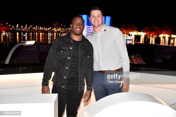 Nick Chubb and Josh Allen attend Twitch Rivals Streamer Bowl After Party at Verizon 5G Stadium at Super Bowl LIVE on January 30 2020 in Miami Florida