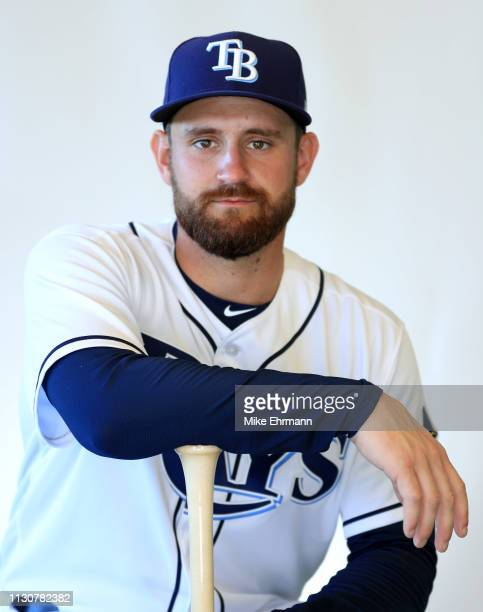 Nick Ciuffo of the Tampa Bay Rays poses for a portrait during photo day on February 17 2019 in Port Charlotte Florida