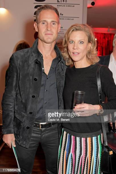 """Nick Clarry and Amanda Staveley attend the press night after party for """"Lungs"""" at The Old Vic Theatre on October 19, 2019 in London, England."""